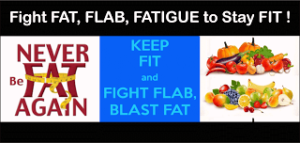 Fight FAT, FLAB, FATIGUE to stay FIT!